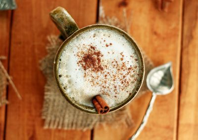 Vegan Gingerbread Tea Latte