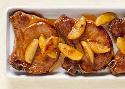 Ginger Maple Glazed Pork Chops with Apples
